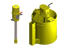 Grout pumps and mixers